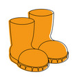 farm boots isolated icon vector image