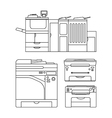 Outlines printer vector image