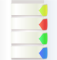Paper Drop Shadow With Arrow Color graphic eps10 vector image