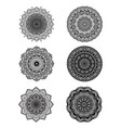 set of mandalas for decorative round ornaments vector image