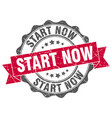 start now stamp sign seal vector image