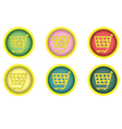 shopping cart buttons vector image vector image