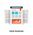 page ranking concept vector image