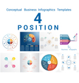 Set Templates Infographics positions 4 vector image