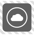 Cloud Rounded Square Button vector image