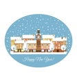 Happy New Year Winter Town vector image