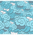Stylised cloudy background vector image