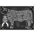 Vintage Blackboard Cut of Beef vector image