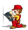 Handyman Nailing Red vector image