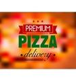 Italian pizza restaurant label or logo vector image vector image