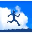 cartoon man running vector image