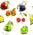 fruit wallpaper vector image