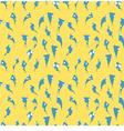 blue bird seamless wallpaper vector image vector image