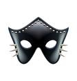 Black leather eyes mask isolated vector image