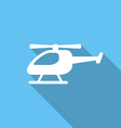 Flat Icon of Helicopter vector image