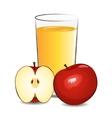 fresh apple juice vector image