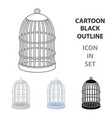 metal cage for birdspet shop single icon in vector image