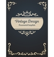 Vintage card design template vector image
