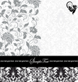gray damask card vector image vector image
