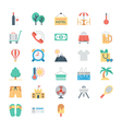 Summer and Holidays Colored Icons 4 vector image