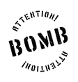 Bomb rubber stamp vector image