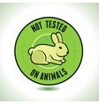 not tested on animals label vector image vector image