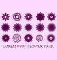 pack of 15 transparent pink abstract geometric vector image