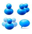 Icons of people groups and speech bubble vector image