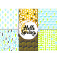 spring nature funky seamless patterns vector image