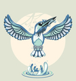 Kingfisher vector image vector image