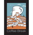 coffee break vector image