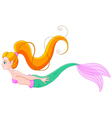 Cute red haired mermaid vector image vector image