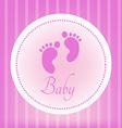 Baby document design vector image