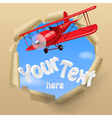 Airplane with a banner vector image