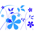 flowers print vector image vector image