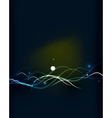 Glowing flowing waves and stars in dark space vector image vector image