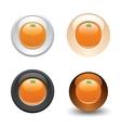 orange button set web 20 icons vector image