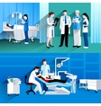 Doctor and nurse 2 medical banners vector image