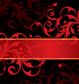 red and black background vector image