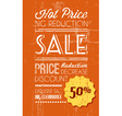 retro sale background orange vector image vector image