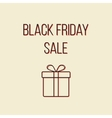 colored black friday sale lettering with outline vector image