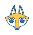 fox animal cartoon vector image