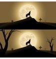 Halloween background with werewolf vector image