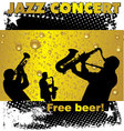 Jazz concert free beer wallpaper vector image