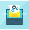 Laptop with envelope gear vector image