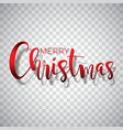 merry christmas typography on a vector image