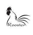 rooster disign on white background farm vector image
