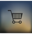 shopping icon on blurred background vector image
