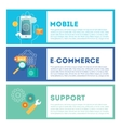 Web internet development set Mobile vector image
