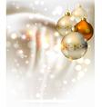 elegant glimmered Christmas vector image vector image